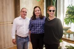 Ricardo, Cecília Nogueira e Graça Pontes