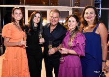 Carol Studart, Lauren Oyama, Jório e Nathalia da Escóssia e Fatima Bezerra
