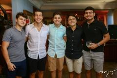 Edson Queiroz Quarto, Bruno Oliveira, Raul Rocha, Sérgio Macedo e Pedro Arthur