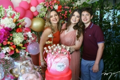 Suyane, Marcela e Cláudio Dias Branco