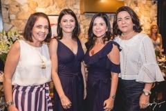 Gina Studart, Liliane Farias, Maria Lucia Negrão e Guiomar Feitosa