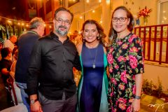 Marcio Crisostomos, Marcia Travessoni e Manoela Crisostomos
