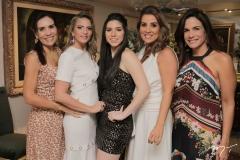 Anne Alcântara, Michelle Aragão, Maria Eduarda e Ana Vládia Sales e Ana Virginia Martins