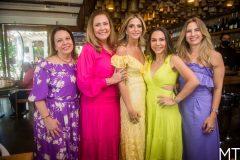 Ana Zelia Gadelha, Andrea Delfino, Michelle Aragão, Adriana Queiroz e Karmilse Marinho