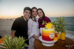 Alexandre, Michelle Aragão e Bianca Aragão