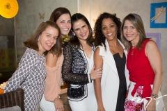 Germana Maia, Raquel Petrone, Niedja Bezerra, Milena Marques e Karla Nogueira