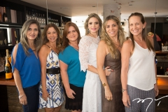 Márcia Morais, Sandra Machado, Vaneska Bezerra, Michelle Aragão, Selene Rolim e Denise Pinheiro