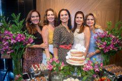 Cláudia Alexandre, Márcia  Andréa, Neuza Rocha, Lorena Pouchain e Germana Cavalcante
