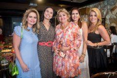Germana Cavalcante, Neuza Rocha, Vera Costa, Lorena Pouchai e Letícia Studart