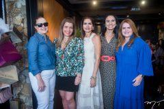 Izabela Fonseca, Silvinha Carneiro, Lorena Pouchain, Neuza Rocha e Vaneska Bezerra