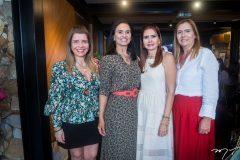 Silvinha Carneiro, Neuza Rocha, Lorena Pouchain e Debora Moreira