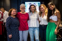 Maria Vital, Jonia Bezerra, Ma´rcia Travessoni, Natércia Rios e Lara Travessoni