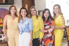 Cristiane Faria, Márcia Travessoni, Danielle Pinheiro, Martinha Assunção e Andréa Delfino