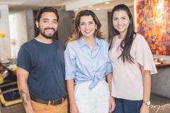 Lucas Magno, Márcia Travessoni e Myrlla Gomes