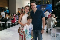 Carol, Rafael e Nisabro Fujita