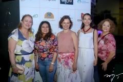 Marize Castelo Branco, Angela Muniz, Vânia Marques, Maria Venâncio e Helena Prezoto