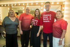 Fátima Morais, Pe. Eugênio, Ana Santos e Daniel Joca e Consuelda Andrade