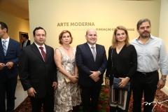 Igor Queiroz Barroso, Fátima Veras, Roberto Cláudio, Lenise Queiroz e Edson Queiroz Neto