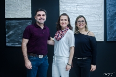Isaac Furtado, Andréa Dall'Olio e Veridiana Brasileiro