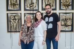 Vitória Marques, Andréa Dall'Olio e Marco Ribeiro