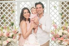 Aline, Liz e Daniel Borges