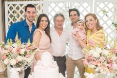 Fernando Delfino, Aline Borges, Euvaldo Bringel, Daniel Borges, Liz Borges e Andréa Delfino