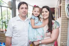 Cláudio, Beatriz e Leide Aragão