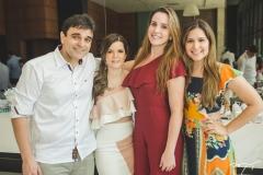 Delfino Neto, Suyane Delfino, Bruna Delfino e Bárbara Delfino
