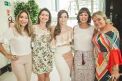 Leonor Coimbra, Celly Martins, Suyane Delfino, Renata Peixoto e Caroline Feitosa