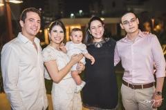 Roberto, Themis e Theo Briand, Mariana e Miguel Morais
