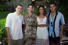 Cristiano Cardoso, Natália Queiroz, Clarissa Aguiar e Fellipe Torres
