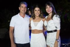 Felipe Frota, Clarissa Aguiar e Isabele Frota
