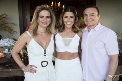 Germana Cavalcante, Clarissa Aguiar e Régis Cavalcante