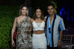 Natália Queiros, Clarissa Aguiar e Fellipe Torres