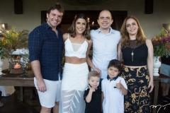 Paulo Porto, Clarissa Aguiar, Nilton, Rina, Murilo e Rafael Andrade