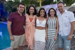 Pedro Lira e Jéssica Paiva, Clarissa Aguiar, Guilherme Nunes e Raissa Holanda