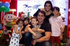 Athina Bastos, Sara, Tiago, Sylvinho, Priscila e Rafael Leal Neto