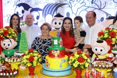 Gisele, Silvio e Vera de Castro, Silvinha, Sylvinho e Rafael Leal