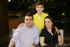 Jorge, Vitor e Rosane Braga