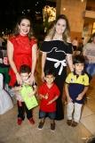 Silvinha e Sylvinho Leal, com João Pedro, Luis Felipe e Maira Cunha
