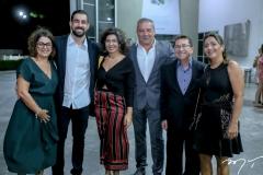 Helena Silveira, João e Maria Júlia Giffoni, Cláudio Silveira, Alci e Gislane Porto