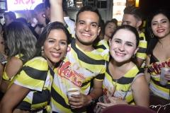 Mayara Rego, David Oliveira e Marcela Borges