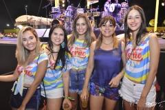 Isabela Lima, Flávia Martins, Luana Felipe, Roberta Andrade e Geovana Silveira