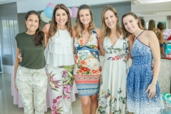 Cristine Peres, Denise Montenegro, Rafaela Scienza, Mariana Castro e Bruna Sampaio