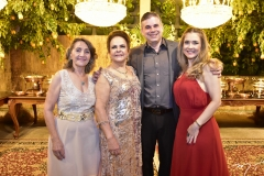 Elizabeth Frota, Nadja Parente,  Eduardo Braga e Adriana Frota