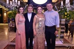Niedja Bezerra, Jorge e Nadja Parente e Alexandre Frota