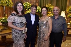 Ticiana Rolim, Jorge e Nadja Parente e Sergio Pessoa