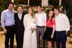 Ivens Neto, Ivens Jr., Morgana, Luca, Lissa e Luciano Dias Branco