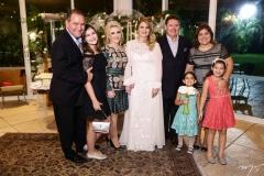 Jório, Gabriela e Graça da Escóssia, Morgana, Ivens Jr., Gisela, Giovana e Giulia Dias Branco
