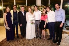 Liliana e Arthur Farias, Ivens Jr., Morgana, Luca, Lissa, Luciano e Ivens Dias Branco Neto